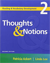 Thoughts & Notions - Reading & Vocabulary Development from ESLgold.com